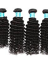 cheap -Brazilian Hair / Peruvian Hair Deep Wave Natural Color Hair Weaves / Weave 4 Bundles 8-30 inch Human Hair Weaves Machine Made Best Quality / 100% Virgin Natural Black Human Hair Extensions Women's