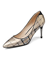 cheap -Women's Shoes Nappa Leather Spring & Summer Comfort Heels Stiletto Heel Pointed Toe Gold