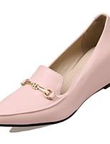 Недорогие -Жен. Обувь Полиуретан Осень Удобная обувь Обувь на каблуках Туфли на танкетке Черный / Розовый / Миндальный
