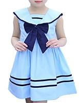 Недорогие -Дети (1-4 лет) Девочки Однотонный Без рукавов Платье