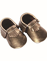 cheap -Girls' Shoes Cowhide Summer / Fall First Walkers Loafers & Slip-Ons Tassel for Baby Gold