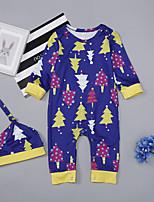cheap -Baby Girls' Print Long Sleeve Romper