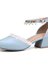 abordables -Femme Chaussures Polyuréthane Printemps Confort / Escarpin Basique Chaussures à Talons Talon Bottier Beige / Rose / Bleu clair