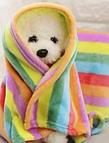 Недорогие -Компактность / Мини / Сохраняет тепло Одежда для собак Кровати / Полотенца Контрастных цветов / Пэчворк Радужный Грызуны / Собаки / Коты