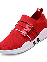 cheap -Men's Mesh / Elastic Fabric Fall Comfort Sneakers Color Block White / Black / Red