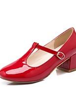cheap -Women's Shoes PU(Polyurethane) Spring & Summer Comfort Heels Chunky Heel Black / Red / Pink