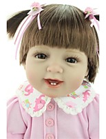 cheap -NPKCOLLECTION Reborn Doll Baby Girl 24 inch Vinyl - lifelike, Hand Applied Eyelashes, Tipped and Sealed Nails Kid's Girls' Gift / Artificial Implantation Brown Eyes / Natural Skin Tone / Floppy Head
