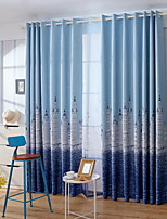 cheap -Kids Curtains Kids Room Cartoon / Contemporary Cotton / Polyester Printed