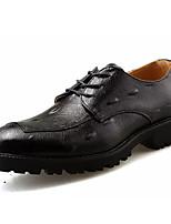 Недорогие -Муж. Полиуретан Осень Удобная обувь Туфли на шнуровке Черный / Винный