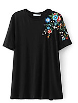abordables -T-shirt femme - col rond floral