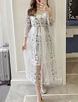 cheap -Women's Basic Set - Geometric Dress