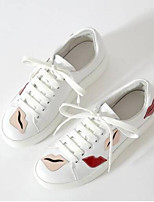 cheap -Women's Shoes Nappa Leather Spring / Summer Comfort Sneakers Flat Heel Round Toe White