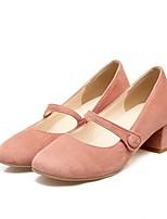 Недорогие -Жен. Обувь Полиуретан Наступила зима Удобная обувь Обувь на каблуках На толстом каблуке Серый / Красный / Розовый