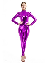 cheap -Zentai Suits / Cosplay Costume Zentai Cosplay Costumes Purple Solid Colored Spandex Lycra / Elastic Unisex Halloween / Carnival / Masquerade