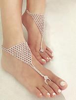 Недорогие -Многослойность лодыжке браслет - модный, Романтика, Мода Белый Назначение Повседневные / Для вечеринок / Жен.