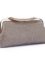 cheap -Women's Bags Polyester / Alloy Evening Bag Crystals / Solid Gold / Black / Silver