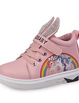 cheap -Girls' Shoes PU(Polyurethane) Fall & Winter Comfort Boots Buckle for Kids Beige / Pink