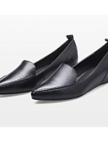cheap -Women's Shoes Nappa Leather Spring Comfort Flats Flat Heel White / Black / Red