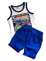 Недорогие -Дети (1-4 лет) Мальчики Однотонный Без рукавов Набор одежды
