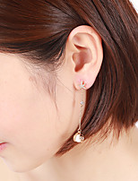 cheap -Women's Cubic Zirconia / Freshwater Pearl Tassel Drop Earrings - Gold Plated, Shell Shell Aristocrat Lolita, European, Korean Silver / Rose Gold For Holiday / Valentine