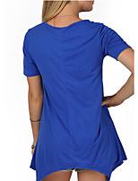 preiswerte -Damen Solide T-shirt