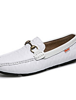 cheap -Men's Cowhide Fall Comfort Loafers & Slip-Ons White / Black / Party & Evening