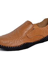 cheap -Men's Nappa Leather Fall & Winter Comfort Loafers & Slip-Ons Black / Dark Blue / Light Brown