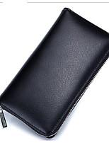 cheap -Women's Bags Cowhide Wallet Zipper Blushing Pink / Purple / Coffee