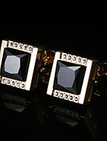 cheap -Geometric Golden Cufflinks Copper / Alloy Basic / Elegant Men's Costume Jewelry For Party / Gift