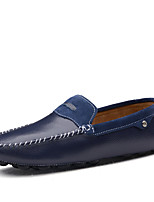 cheap -Men's Moccasin Nappa Leather Spring Loafers & Slip-Ons Dark Blue / Brown / Blue