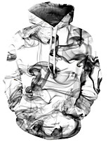cheap -Men's Basic / Exaggerated Hoodie - 3D, Print