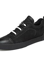 Недорогие -Муж. Комфортная обувь Наппа Leather Весна Кеды Белый / Черный / Черно-белый