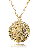 cheap -Men's Retro Pendant Necklace - Skull Vintage, European, Fashion Gold, Silver, Bronze 50 cm Necklace 1pc For Causal