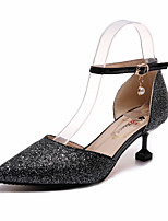 cheap -Women's Shoes PU(Polyurethane) Summer D'Orsay & Two-Piece Heels Kitten Heel Pointed Toe Imitation Pearl Gold / Black / Silver / Party & Evening