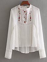 abordables -Tee-shirt Femme, Fleur Brodée Basique