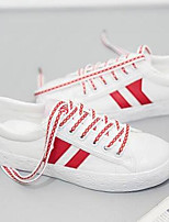 cheap -Women's Shoes Rubber Spring / Summer Comfort Sneakers Flat Heel Closed Toe Red / Blue