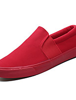 cheap -Men's Shoes Canvas Spring / Summer Comfort Loafers & Slip-Ons White / Black / Red