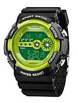 abordables -SANDA Hombre Reloj Deportivo / Reloj digital Japonés Calendario / Resistente al Agua / Palabra fresca / Frase Silicona Banda Lujo / Moda Negro