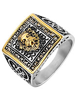 cheap -Men's Disco Ball Statement Ring - Stainless Steel Punk, Trendy, Hip-Hop 8 / 9 / 10 Gold / Silver For Club / Bar