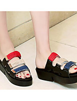 cheap -Women's Shoes PU(Polyurethane) Summer Comfort Slippers & Flip-Flops Flat Heel White / Black / Green