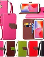 economico -Custodia Per Xiaomi Redmi S2 / Mi 8 Explorer Porta-carte di credito / Con supporto / Con chiusura magnetica Integrale Piante Resistente pelle sintetica per Redmi Note 5A / Xiaomi Mi 8 SE / Xiaomi Mi 6