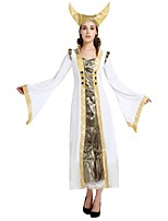 cheap -Egyptian Costume Costume Women's Halloween / Carnival / Children's Day Festival / Holiday Halloween Costumes White Solid Colored / Halloween Halloween