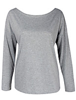 cheap -Women's Active / Street chic Blouse - Solid Colored Cut Out