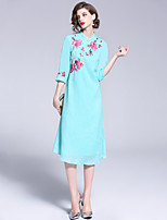 cheap -Mary Yan & Yu Women's Street chic / Chinoiserie A Line / Swing Dress Patchwork