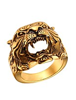 cheap -Men's Hollow Ring - Stainless Steel Skull Fashion Gold / Silver For Gift / Street