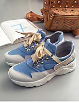 cheap -Women's Shoes Canvas / Synthetics Spring & Summer Comfort Sneakers Flat Heel Round Toe Ribbon Tie Black / Orange / Light Blue