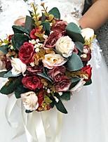 """baratos -Bouquets de Noiva Buquês Casamento / Ocasião Especial Poliéster 7.87""""(Aprox.20cm)"""