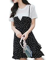 cheap -Women's Set - Polka Dot Dress