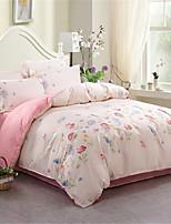 preiswerte -Bettbezug-Sets Blumen Polyester Applikation 4 Stück