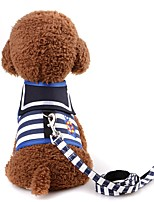 cheap -Rodents / Dogs / Cats Harness / Leash Portable / Mini / Walking Stripe Terylene Red / Navy